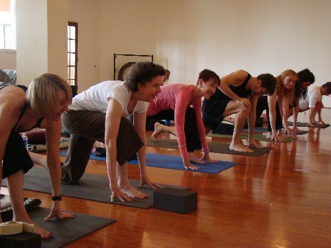Sacred Art Yoga  education based yoga teacher training.    Raye Lynn Rath and Becky Jordan are teaching two yoga teacher intensives:  Part I: March 14 – 22, 2015; Part II: May 9 – 17, 2015